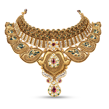 from jewels south beautiful necklace gold manubhai india